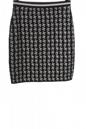 Marc Cain Knitted Skirt black-white allover print business style