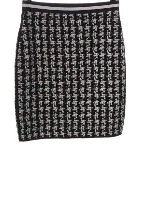 Marc Cain Jupe tricotée noir-blanc imprimé allover style d'affaires