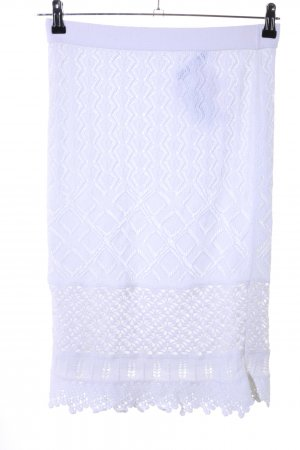Marc Cain Jupe tricotée blanc style décontracté
