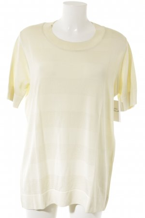 Marc Cain Knitted Jumper pale yellow striped pattern casual look