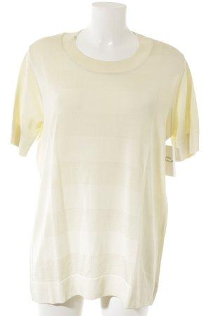 Marc Cain Koszulka z dzianiny jasnożółty Wzór w paski W stylu casual