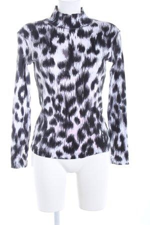 Marc Cain Sweatshirt schwarz-weiß Animalmuster extravaganter Stil