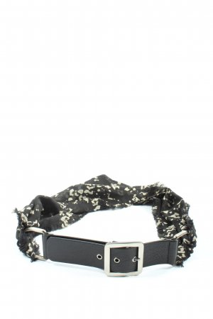 Marc Cain Waist Belt black-natural white abstract pattern casual look
