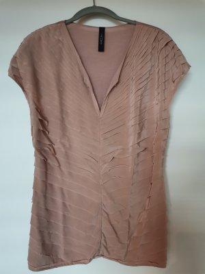 Marc Cain V-hals shirt stoffig roze