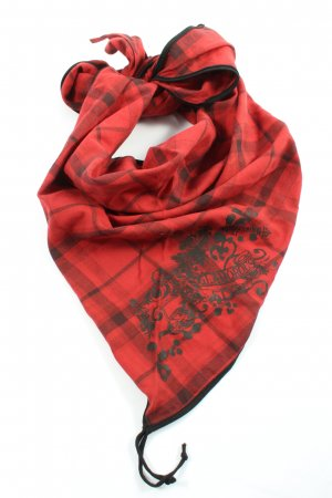 Marc Cain Traditional Scarf red-black check pattern casual look