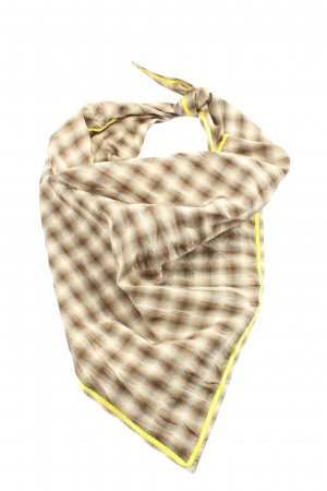 Marc Cain Traditional Scarf brown allover print casual look