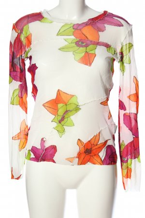 Marc Cain Transparenz-Bluse Blumenmuster Casual-Look