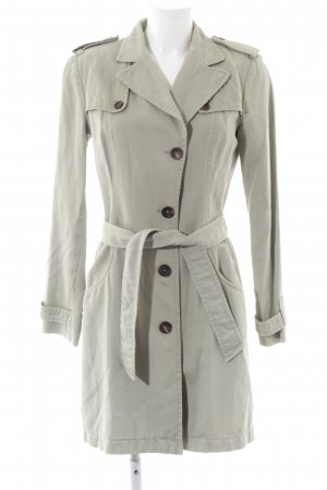 Marc Cain Trenchcoat hellgrau Business-Look