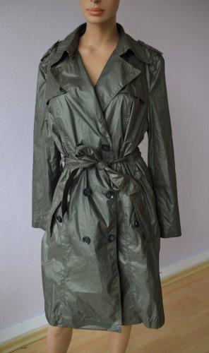 MARC CAIN Trenchcoat Mantel Übergangsjacke Anorak graugrün Gr. 44