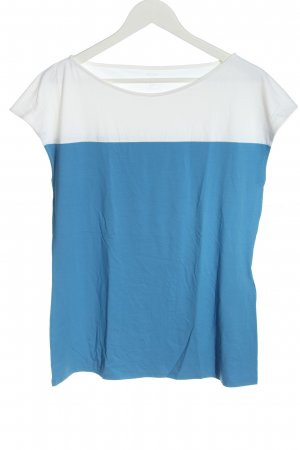 Marc Cain Boatneck Shirt blue-white casual look