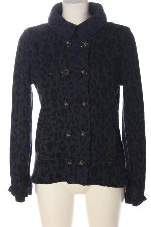 Marc Cain Knitted Blazer blue-black leopard pattern casual look