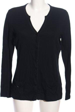 Marc Cain V-Ausschnitt-Pullover schwarz Casual-Look