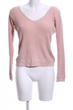 Marc Cain V-Ausschnitt-Pullover pink Casual-Look