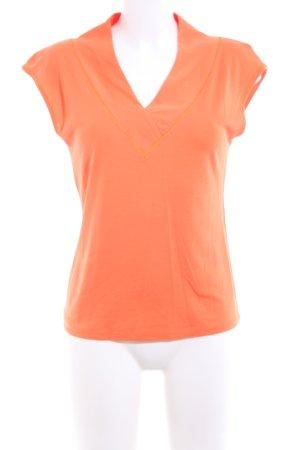 Marc Cain V-Neck Shirt light orange casual look