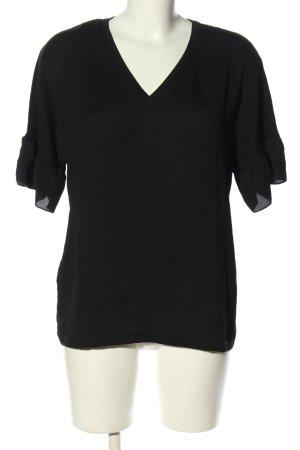 Marc Cain V-hals shirt zwart casual uitstraling
