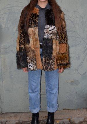 Marc Cain Vintage Fell Jacke + Schal Winterkollektion 1994 34/36/38