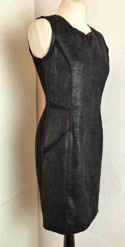 * MARC CAIN * warmes STRETCH KLEID Wibraun bronze Rücken schwarz  Gr 38 M N3
