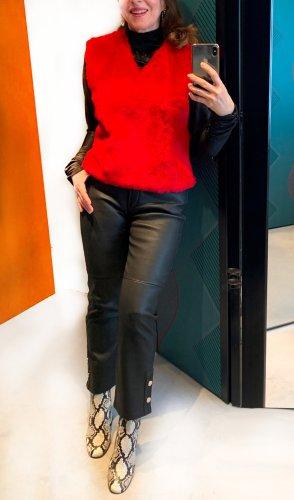 marc cain sports Cardigan lungo rosso mattone Pelliccia