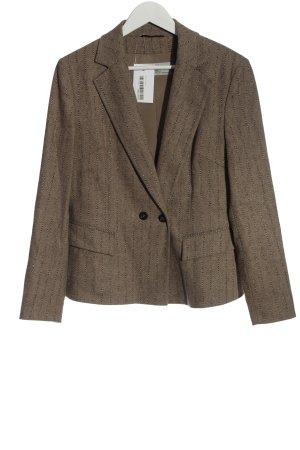Marc Cain Blazer en laine brun motif rayé style d'affaires