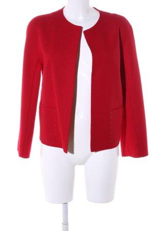 Marc Cain Blazer de lana rojo estilo «business»