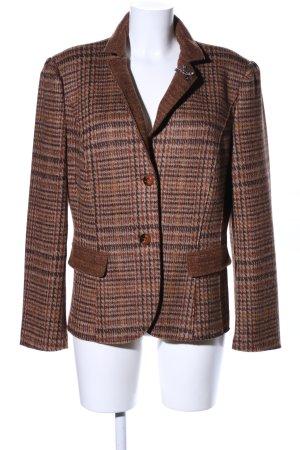 Marc Cain Blazer en laine motif à carreaux style d'affaires
