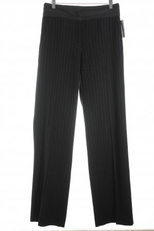 Marc Cain Woolen Trousers black-beige mixture fibre