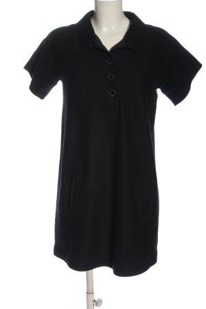 Marc Cain Vestido de lana negro look casual