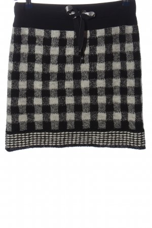 Marc Cain Wool Skirt black-white check pattern casual look