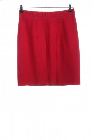 Marc Cain Wool Skirt red business style