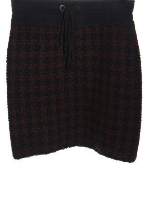 Marc Cain Jupe en laine brun-noir moucheté style décontracté