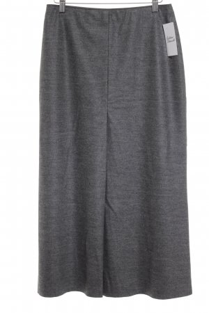 Marc Cain Gonna di lana grigio scuro puntinato stile semplice