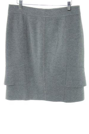 Marc Cain Jupe en laine gris clair moucheté style décontracté