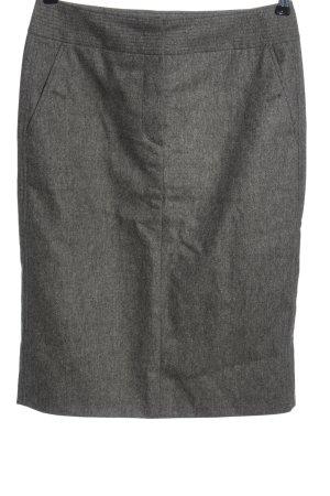 Marc Cain Wool Skirt light grey flecked casual look