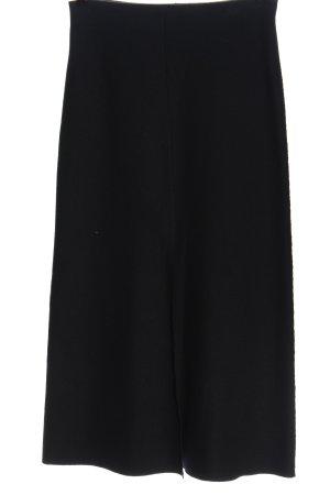 Marc Cain Wełniana spódnica ciemnoniebieski W stylu casual