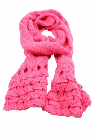 Marc Cain Bufanda de lana rosa look casual