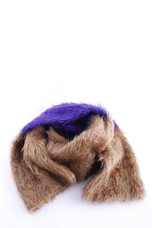 Marc Cain Wollen sjaal bruin-lila casual uitstraling