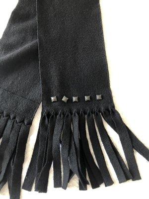 Marc Cain Woolen Scarf black wool