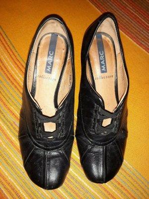 MARC Collection Elegante Schuhe Pumps Damen Schwarz Leder Größe 36