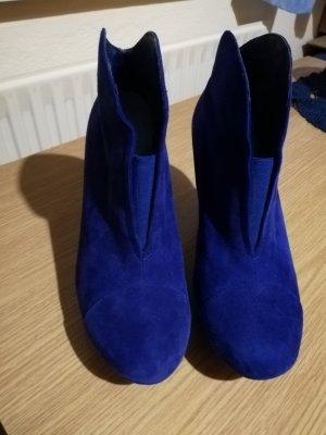 MARC Damenschuhe, Gr. 4 1/2 (37), Wildleder, blau