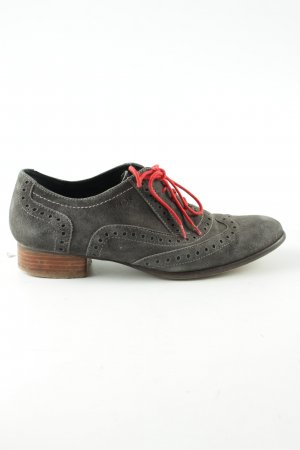 MARC Derby light grey-red casual look