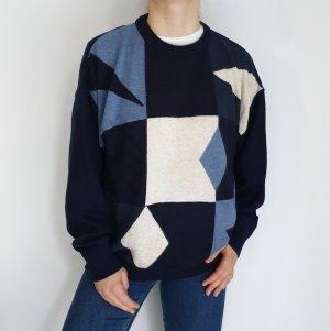 Marc Gibaldi blau Cardigan Strickjacke Oversize Pullover Hoodie Pulli Sweater Top True Vintage