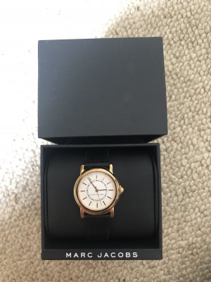 Marc Jacobs Watch With Leather Strap black-rose-gold-coloured