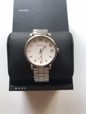 Marc Jacobs Reloj con pulsera metálica color plata-blanco