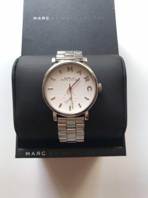 Marc Jacobs Montre avec bracelet métallique argenté-blanc