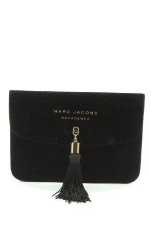Marc Jacobs Clutch schwarz-goldfarben Motivdruck Casual-Look