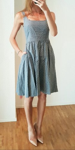 Marc Jacobs  Dotty Chambray midi Sommer Kleid Ibiza boho hippie denim