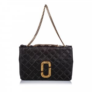 Marc Jacobs Double J Quilted Leather Flap