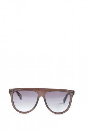 Marc Jacobs Hoekige zonnebril bruin casual uitstraling