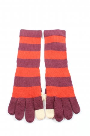Marc Jacobs Gloves pink-red striped pattern casual look