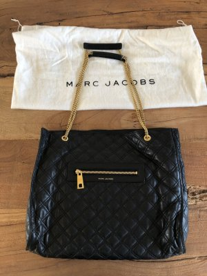Marc Jacobs Shopper black-gold-colored leather